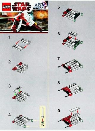 инструкций лего стар варс
