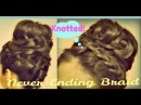★HAIR TUTORIAL: KNOTTED HAIRSTYLES: NEVER-ENDING FRENCH BRAID SOCK BUN UPDOS FOR MEDIUM LONG HAIR