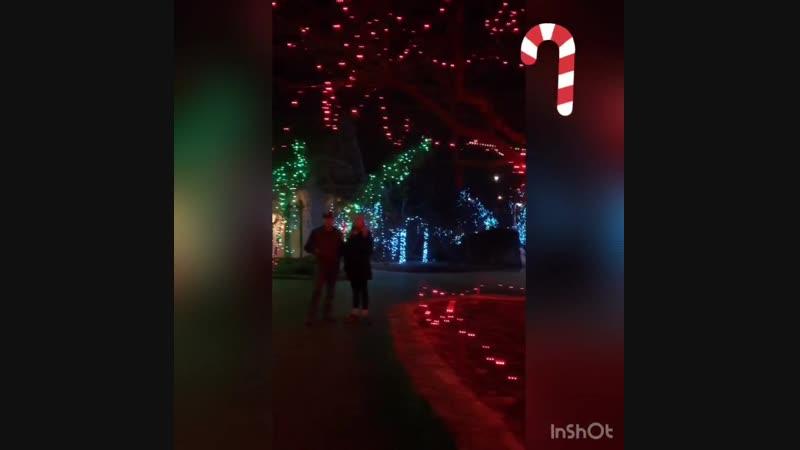 Фестиваль рождественских огней в Цинциннати