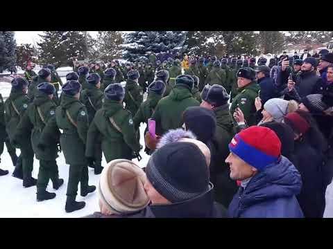 Принятие военной присяги новобранцами 14.01.18 (97-й ОПЖДБ) г. Курганинск