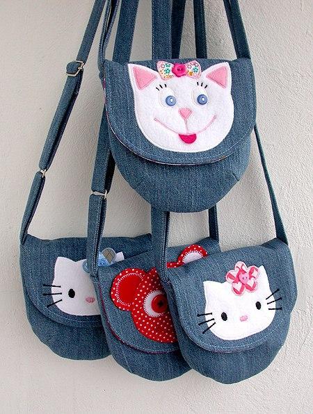Джинсовые сумочки для маленьких модниц : Идеи для вдохновения…. (5 фото)
