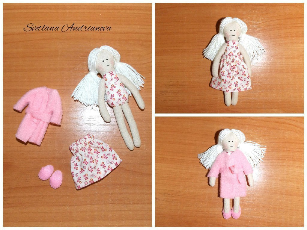 Текстильные маленькие куклы своими руками 19