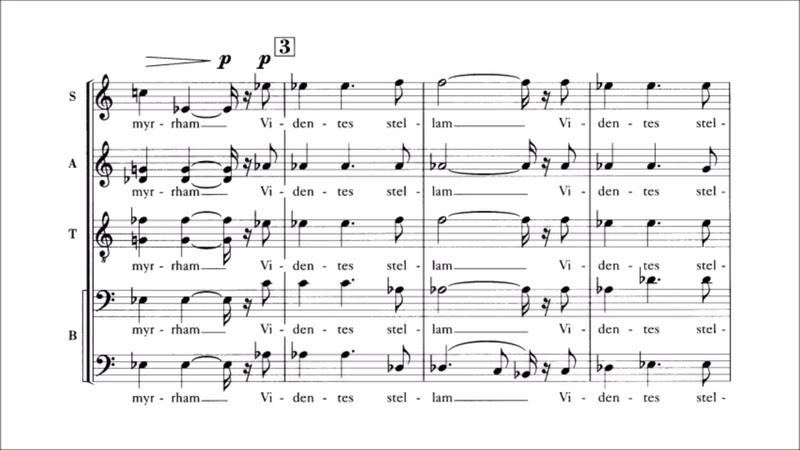 Francis Poulenc - Quatre motets pour le temps de Noël (audio sheet music)