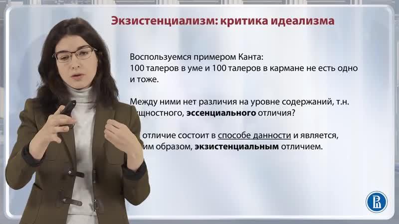 Критика идеализма [1] Экзистенциализм критика идеализма Диана Гаспарян