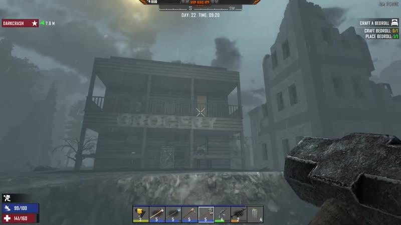 [МИР ММО ИГР] Байкеры и новая база от зомби - Альфа 17 в 7 Days to Die - Зомби орда окружила наш дом.