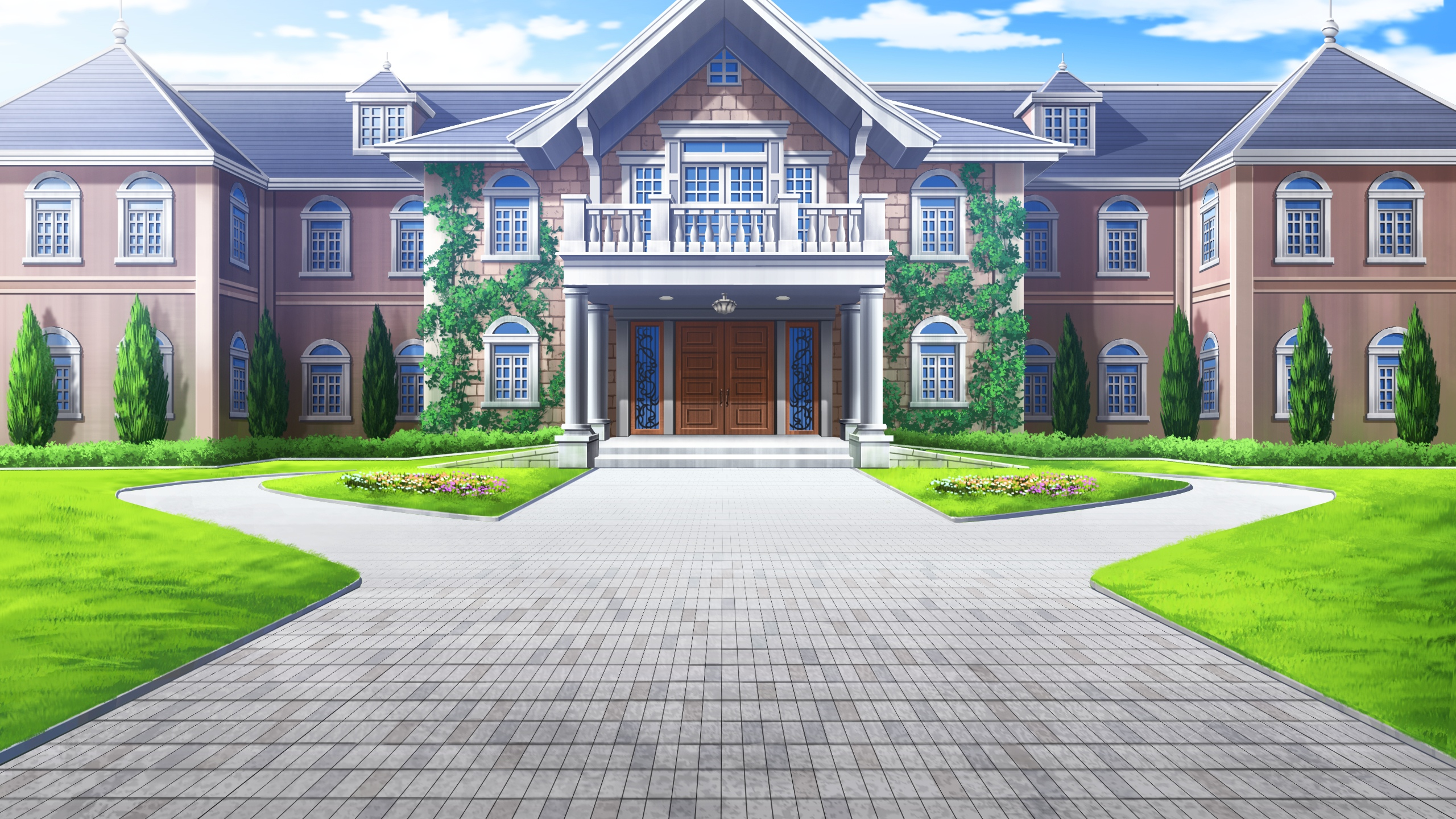 Картинки домов из аниме