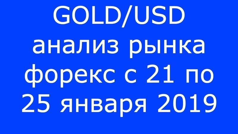 GOLD/USD - Еженедельный Анализ Рынка Форекс c 21 по 25.01.2019. Анализ Форекс.