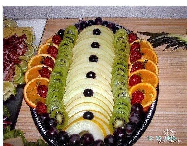 Как разложить красиво фрукты