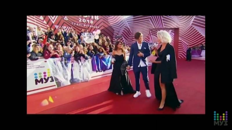 Влад Рамм и Миранда Шелия на Ковровой Дорожке Премии МУЗ.ТВ 2018. Трансформация