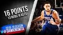 Ben Simmons Full Highlights 2019.03.05 76ers vs Magic - 16 Pts, 13 Rebs, 8 Asts! | FreeDawkins