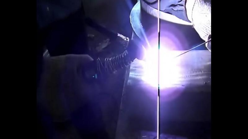 Техника сварки аргоном шов бабочка (американка) с присадкой.