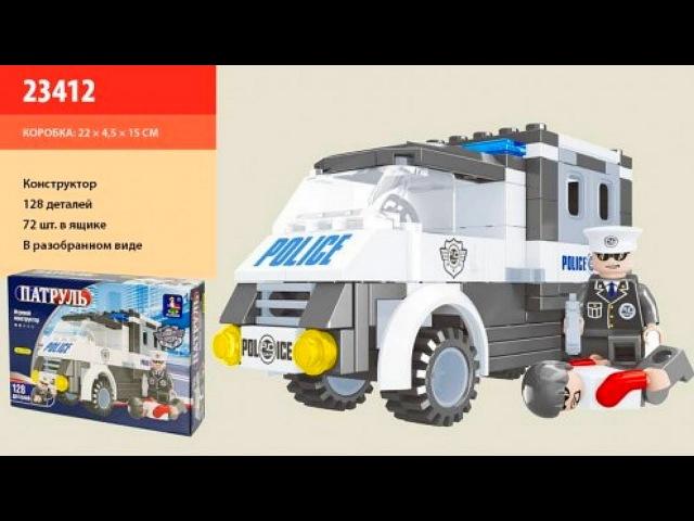 Обзор конструктора Ausini Патруль 23412 Полицейский фургон, Китайское Лего | Lego Speed Build