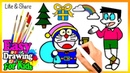 Drawing Cute Doraemon Nobita Coloring Book | Kids Learn Easy Painting Colors Pages Video232