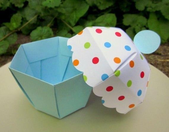 Коробочка в виде кекса. Шаблон. (6 фото) - картинка