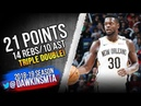 Julius Randle Triple-Double 2018.11.19 Pelicans vs Spurs - 21 Pts, 14 Rebs, 10 Asts! FreeDawkins