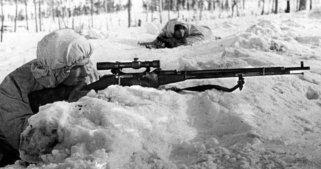 Советский снайпер Сурков