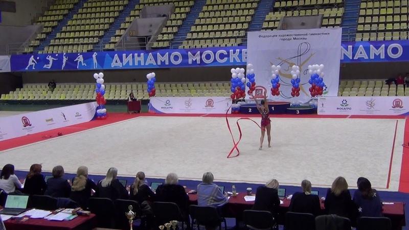 Полина Хонина лента многоборье Кубок Москвы 2018