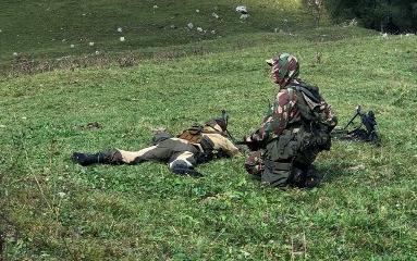 В Зеленчукском районе спецназовцы провели учения по боевой подготовке