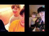 the times that theyre cameo-ing in eachothers vlive.... still waiting for their own vlive tho nielwink