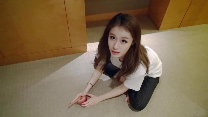 180126 T-ARA Jiyeon VS an apple [JINGS TV]
