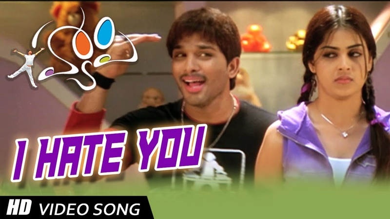 I Hate You Full HD Video Song Happy Movie Allu Arjun Genelia