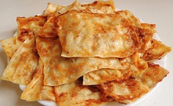 Восточные гренки Ингредиенты: Армянский лаваш – 1 шт; Мягкий плавленый