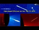 Сигарообразные НЛО возле нашего Солнца 15 июля 2018