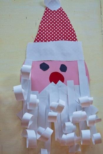 Голова деда мороза из бумаги своими руками