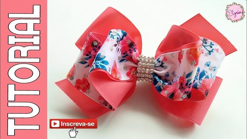 Laço Celia Elysa Ver 2 🎀 Ribbon Bow Tutorial 🎀 DIY by Elysia Handmade