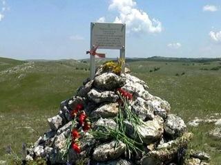 На Караби-яйле установили памятник пограничникам ВОВ....
