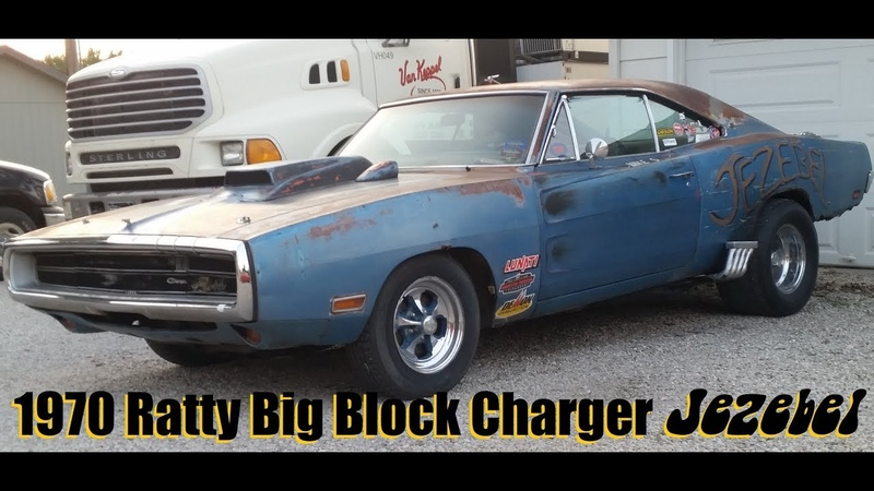 Ratty Big Block 1970 Dodge Charger Jezebel Nostalgia Drag Racer