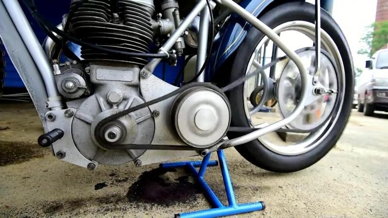 Реставрированный спидвейный мотоцикл середины 60-х ESO-500