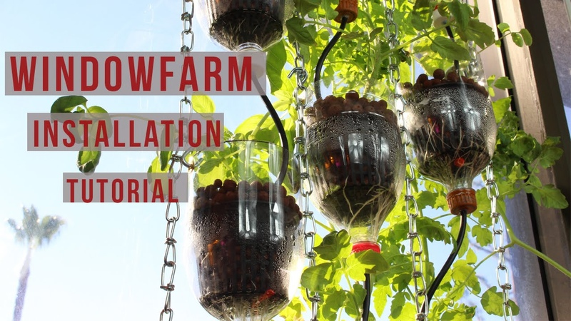 Window Farm Installation Tutorial | DIY Window Hydroponics for Any Horticulture Garden