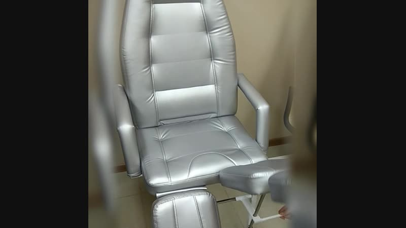 Педикюрное кресло СП Люкс, Серебристый