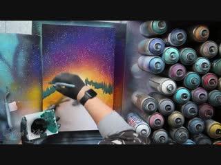 Hit the road - spray paint art by skech. уличные художники не перестают удивлять
