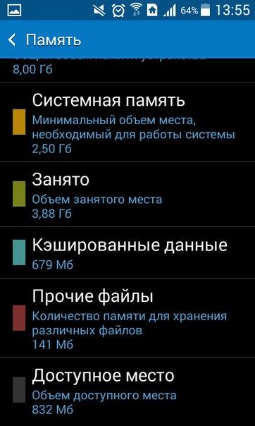 Как увеличить память на андроид4