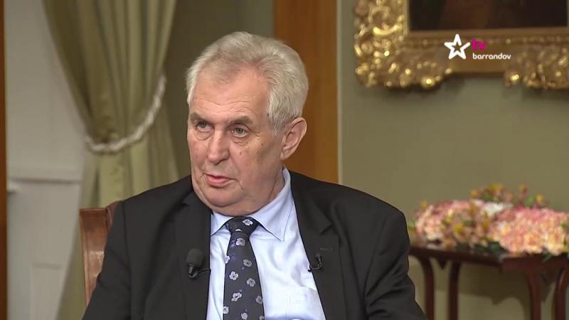 Týden s prezidentem, TV Barrandov, čtvrtek 22.... - Miloš Zeman - prezident České republiky_1