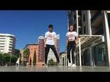Парень и девушка танцуют (шафл) (shuffle)