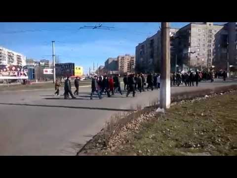 22 03 14 Украина Алчевск Митинг против фашизма