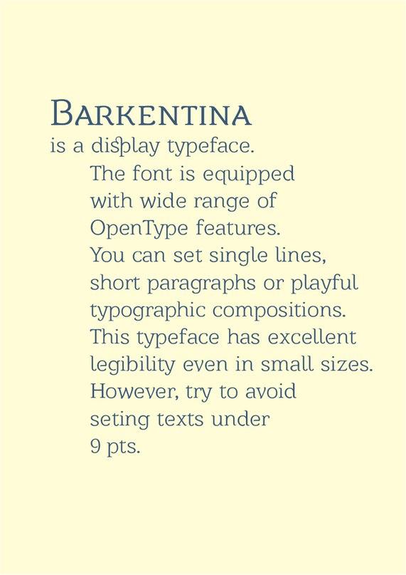 Download barkentina font (typeface)