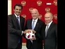 В Кремле состоялась церемония передачи Катару полномочий проведению чемпионата мира пофутболу.