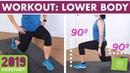 20 Minute Lower Body Burn Home Workout - No Equipment Legs, Booty Abs! kickstart2019