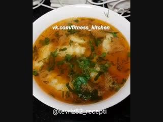 Суп с картофельными клецками.