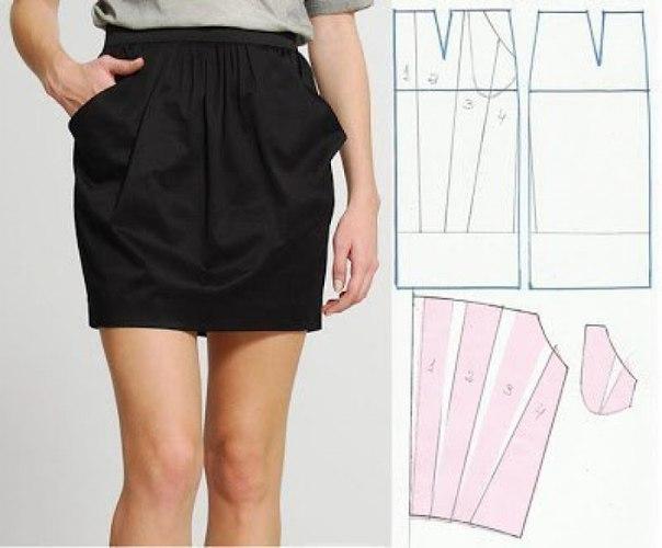 Как сшить юбку с карманами своими руками
