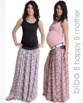Как сшить длинную юбку для беременных