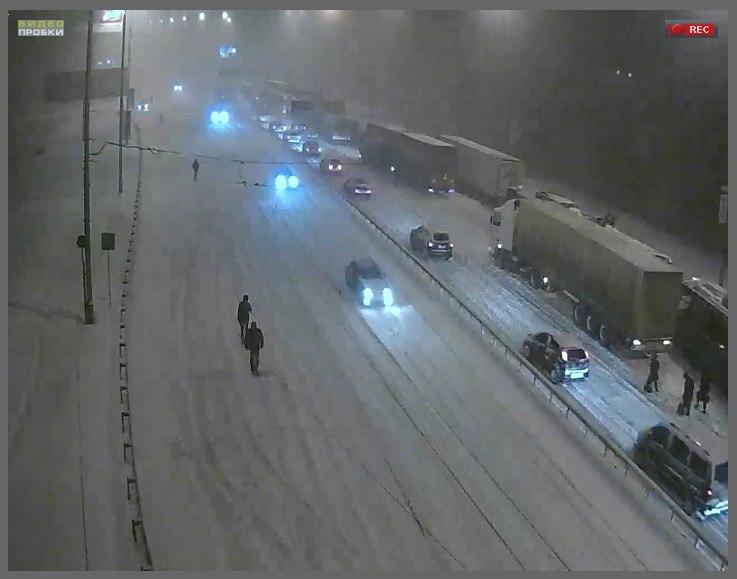 Киев.Московский мост.Вечер 22-го.