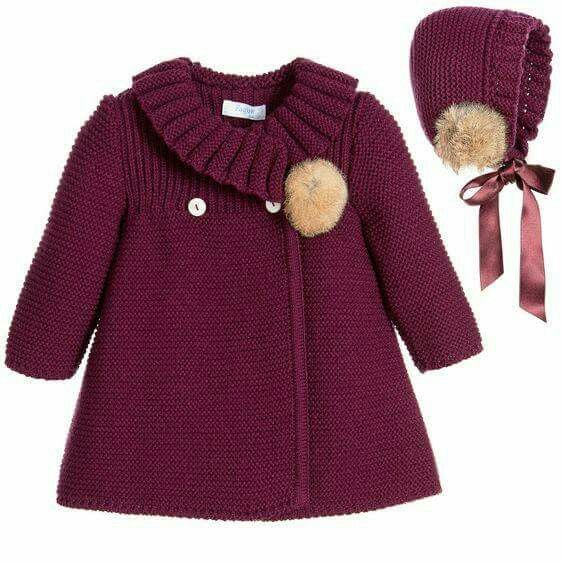 Вяжем пальто спицами для девочки