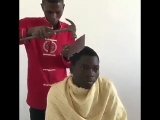 Jin giving Jungkook a haircut after bighit stylists hide all the scissors