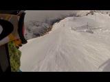 Домбай 2013 GoPro Спуск с горы в поселок за 15 мин
