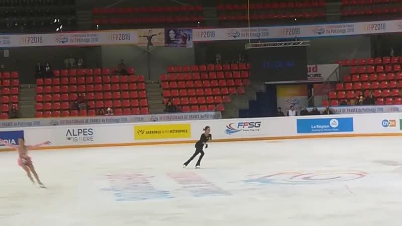 Evgenia Medvedeva Practice - Grand Prix Grenoble - 24_⁄11_⁄2018